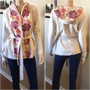 Saturday Sunday Anthropologie Tie Waist Hoodie